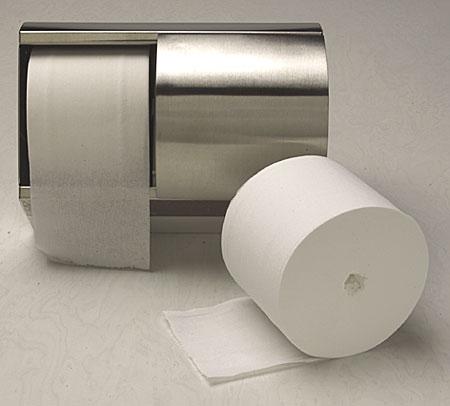 Coreless toilet tissue
