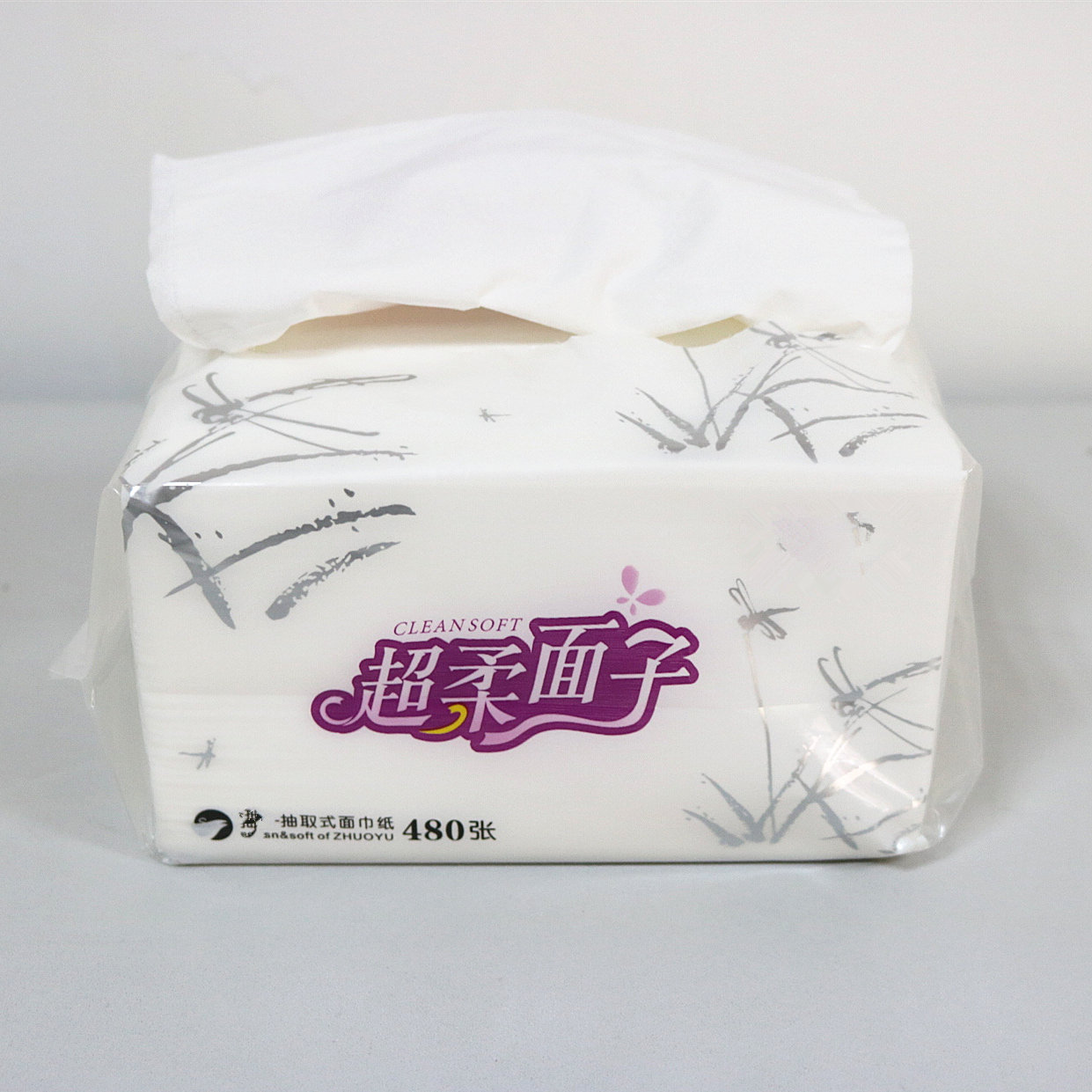 Soft pack facial tissue